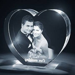 1 Heart Shaped 3D Photo Crystal