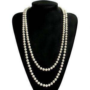 Babeyond ART DECO Fashion Long Pearl Necklace
