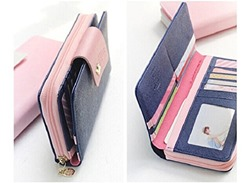 Bessky(TM) 2015 Birds Clutch Wallet Leather Case