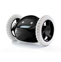 Clocky-Alarm-Clock-on-Wheels-in-Black