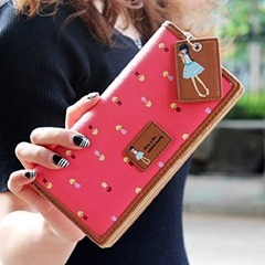 Fashion Lady Women Long Purse Clutch Zip Bag