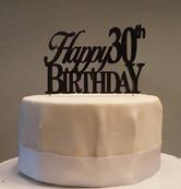 Happy-30th-birthday Cake Topper