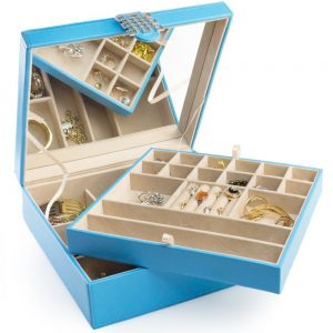 Organizer With 28 Compartments Of Different Sizes Which Help In Organizing Pieces Jewelry This Comes A Free Gift