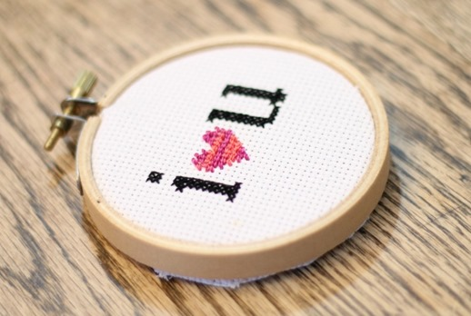 Love note stiched