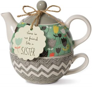 Pavilion Gift Bloom Sister Ceramic Tea For One