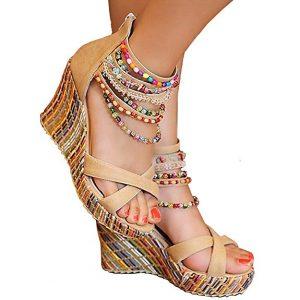 Getmorebeauty Women's Wedge Sandals