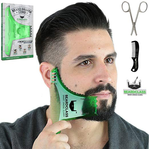 Beard Shaper Template Comb Kit