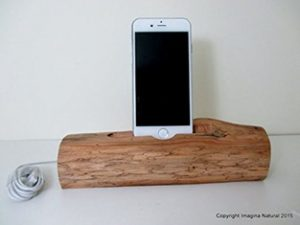 Driftwood iPhone Dock