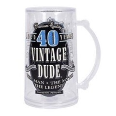 vintage dude 40th birthday tankard
