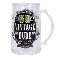 60th BD Vintage Dude Tankard