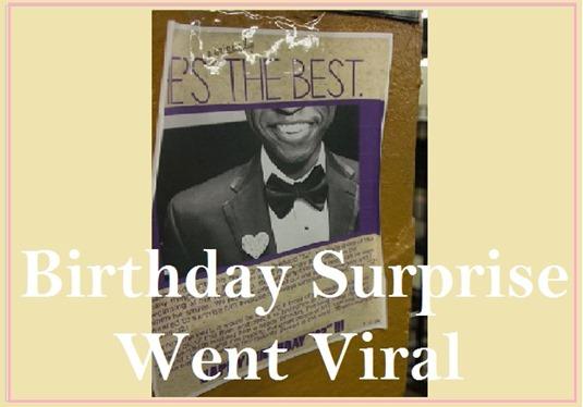 Birthday surprise clip