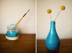 Spun bottle vase