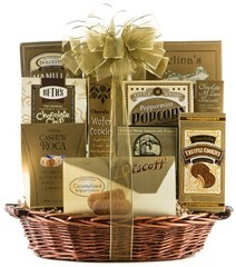 60th-birthday-gifts-for-dad-The Golden Gourmet Gift Basket