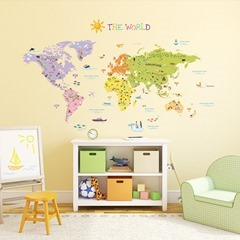 The World Map Wall Stickers