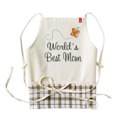 World's best mom apron