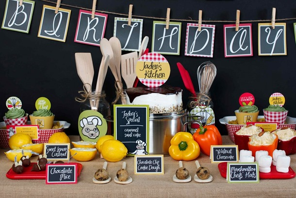A Little Chef Cooking Birthday Party