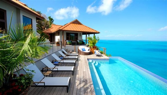 Beach side villa
