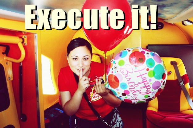 Execute the surprise birthday party