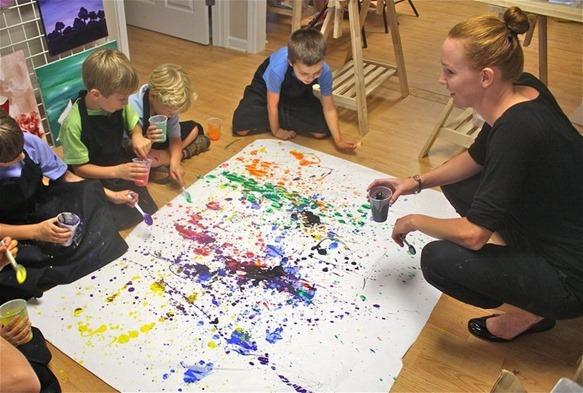 Jackson Pollock Party