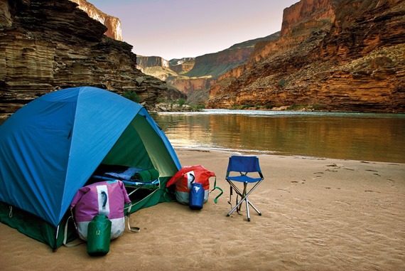 River side camping party