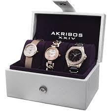 Akribos AK766RG Ladies 3 Piece Gift Set