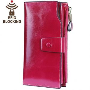 Leather Clutch Wallet Card Holder
