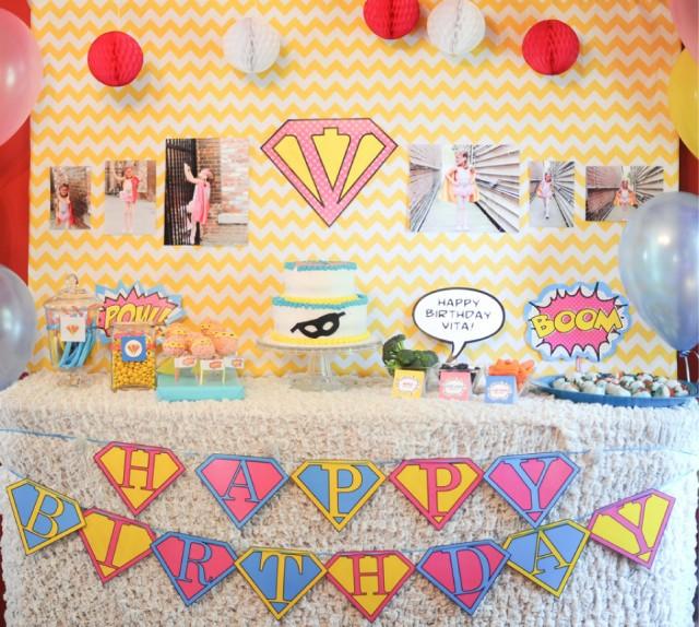 Vintage Girlie Superhero Party