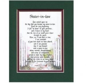 sister in law frame