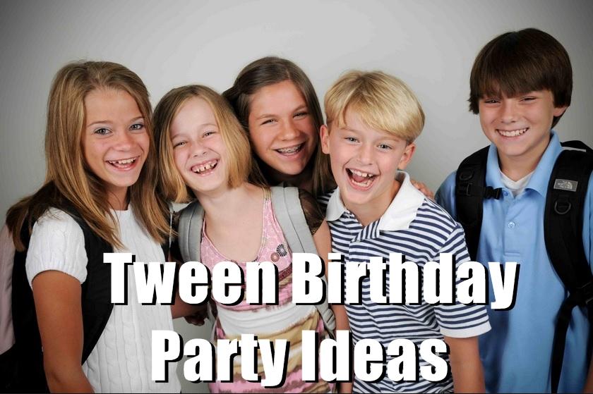 tween birthday party ideas