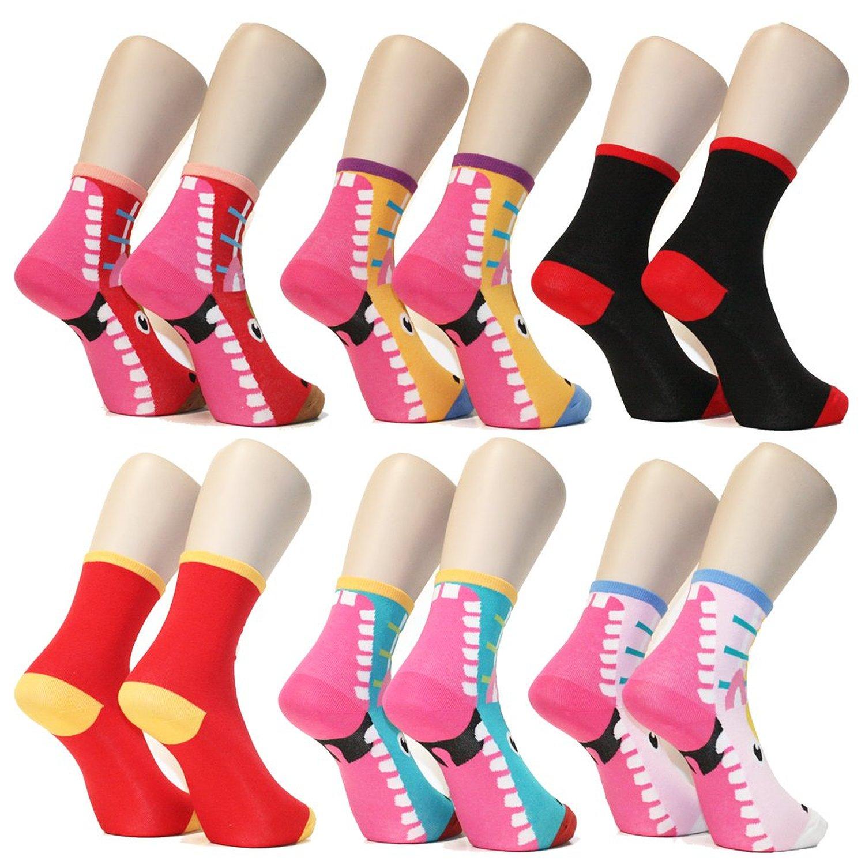 28 Monster Heel Cotton Crew Socks