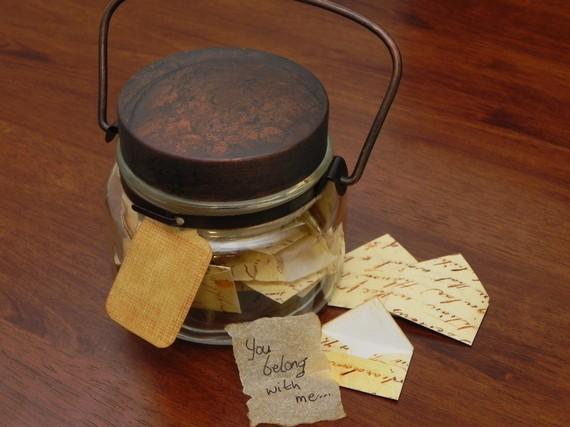 Note in a jar