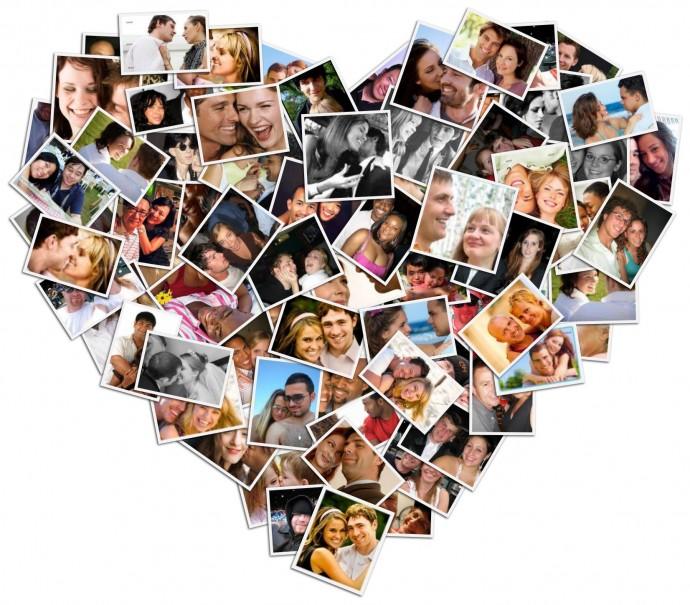 Создать коллаж сердце из фотографий онлайн