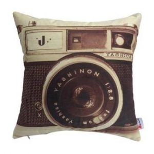 Vintage Camera Pattern Pillow Cushion Cover