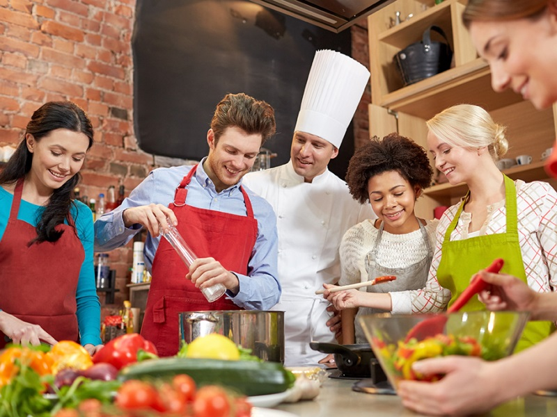 Call your friends over for group cooking