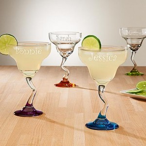 Colorful margarita glass