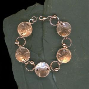 Penny coin bracelet
