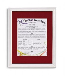 The Year You Were Born Trivia Print