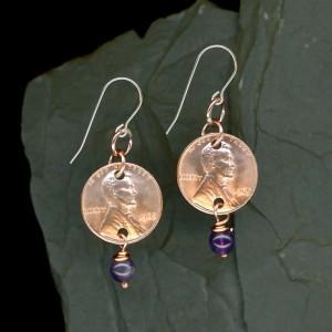 1965 penny earrings