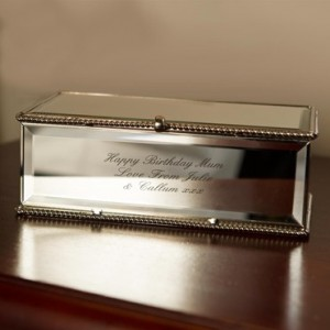 Personalized Mirror Jewelry Box