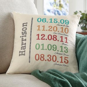 fun family history pillow