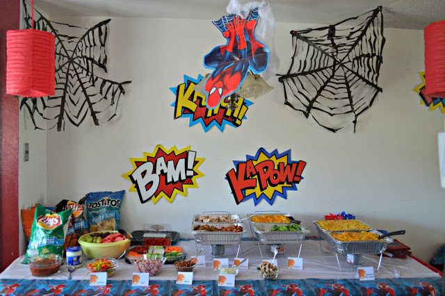 Spider-man decorations