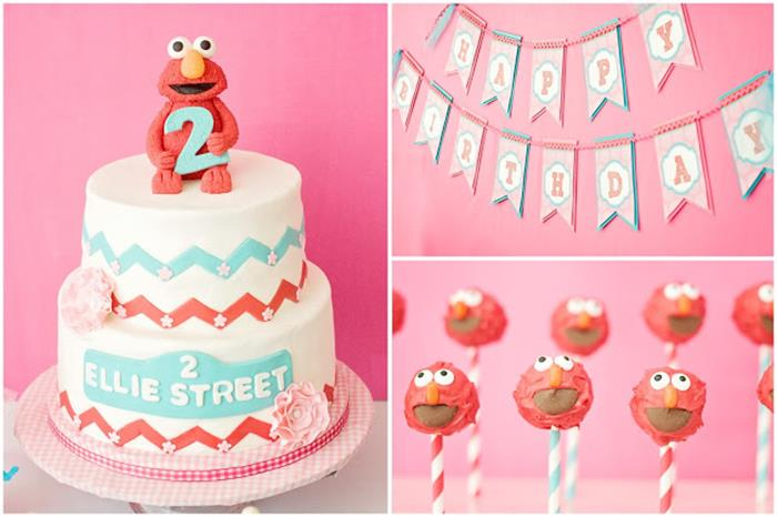 Girly Elmo 2nd Birthday Party