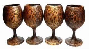 handmade wooden wine glasses