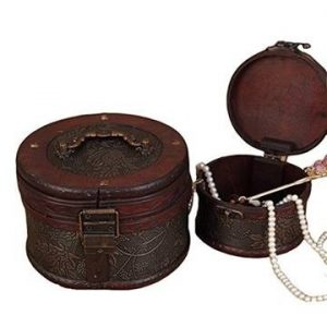 old style wooden jewelr box