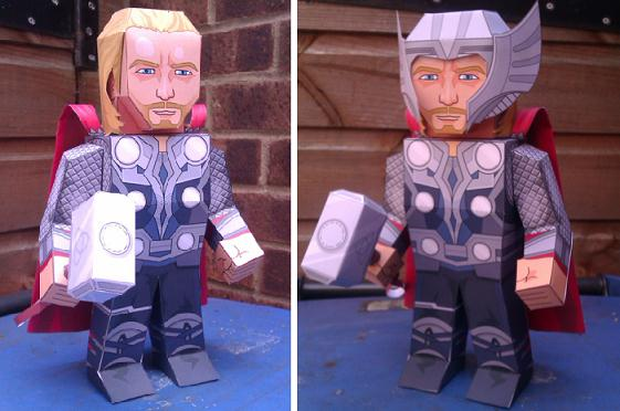 Avenger Superhero Miniatures And Cutouts