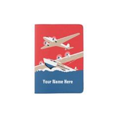 Air Plane Passport Cover