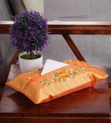 Vietnamese Silk Tissue Box Cover