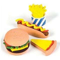Fast Food Erasers