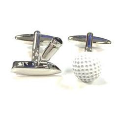 Golf Ball And Putter Cufflink