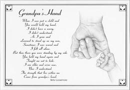 My Daddy Or Grandpa's Handprint